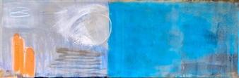 "Untitled 2 Acrylic & Mixed Media on Canvas 19.5"" x 59"""