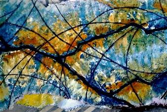 "Energia Acrylic on Paper 23.5"" x 43.5"""