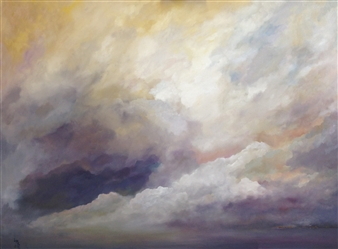 """Storm Over Navesink Oil on Canvas 31"""" x 41"""""""