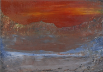 """Glowing Tribulations Oil on Paper 11.5"""" x 16.5"""""""