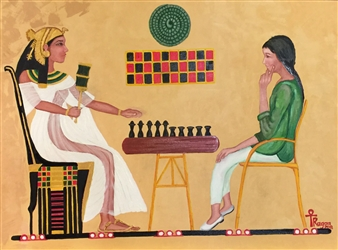 """Chess Oil on Canvas 34"""" x 42"""""""