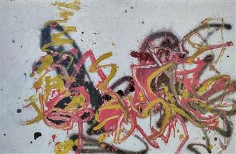"Mon 2 Acrylic & Oil on Fiber Board 23.5"" x 37.5"""