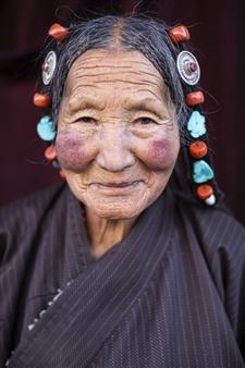 """Tibet Woman Portrait Archival Pigment Print 40"""" x 30"""""""