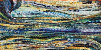 "Equinox Acrylic on Canvas 20"" x 40"""