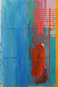 """City of Glass 20 –  (Cage) Oil on Canvas 35.5"""" x 24"""""""