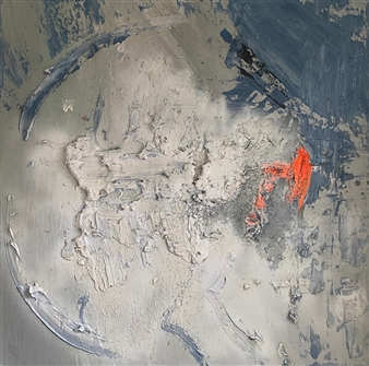 """Search and Rescue Mixed Media on Canvas 36"""" x 36"""""""