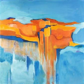 """Metamorphic Rock Acrylic on Canvas 20"""" x 20"""""""