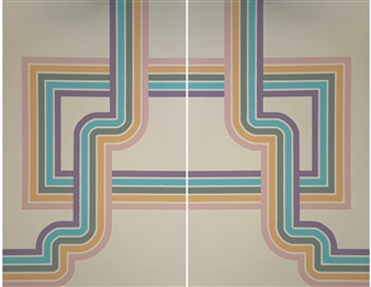 "Direction 1 & 2, diptych Acrylic on Canvas 96"" x 72"""