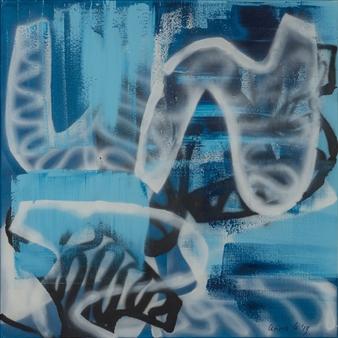 "Peeking at Freedom Acrylic on Linen 39.5"" x 39.5"""