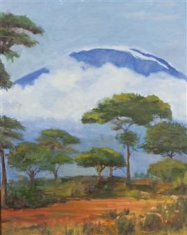 "Mt Kilimanjaro Oil on Canvas 30"" x 24"""