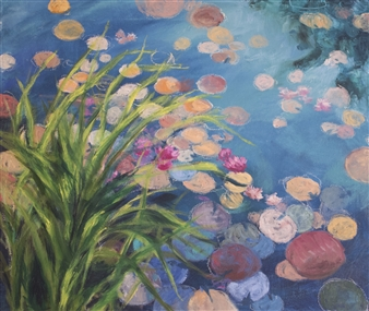 Sunlit Lillies