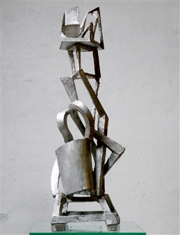 """Woman with Hat Aluminum 35"""" x 14"""" x 12"""""""