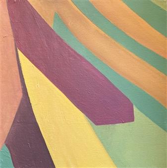 "Caminos Acrylic on Canvas 18"" x 18"""