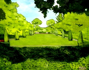 "Frances Park Oil on Canvas 58"" x 72"""