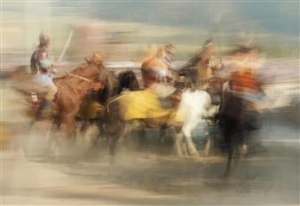 "Horse Show Photograph on Plexiglass 35"" x 51"""