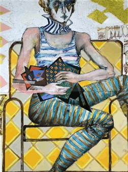 Circus Performer with a Cat