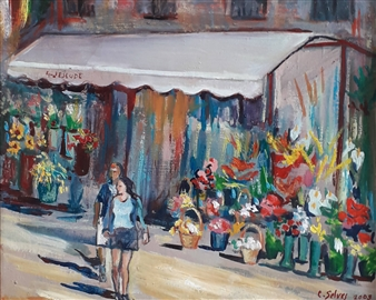 "Rambles Oil on Canvas 9"" x 11"" x 2"""