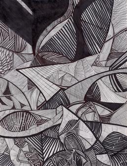"Gathering in Judah Pen & Ink 12"" x 8"" <span style='color:red;'>Sold</span>"