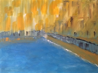 "Shorelines Acrylic on Canvas 12"" x 16"""