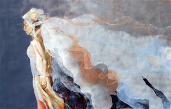 """La Sposa Trattenuta Mixed Media on Canvas 39.5"""" x 59"""""""