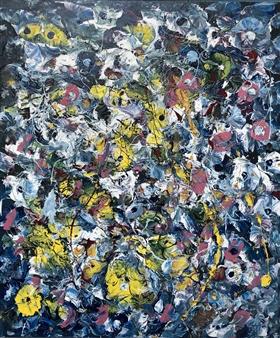 "Lily Pots Acrylic on Canvas 26"" x 22"""