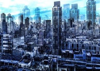 "City Density 02 Digital C-Print 20"" x 27.5"""