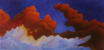 """Fairylight Acrylic & Oil on Canvas 10"""" x 20"""""""