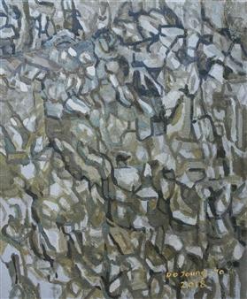 """Knar 8 Soil on Canvas 17.5"""" x 15"""""""