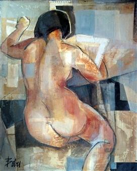 """Las Noticias de la Mañana Oil on Canvas 39.5"""" x 32"""""""