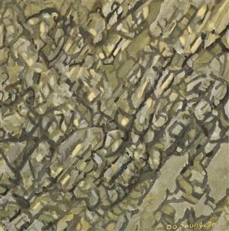 """Knar 13 Soil on Canvas 21"""" x 17.5"""""""