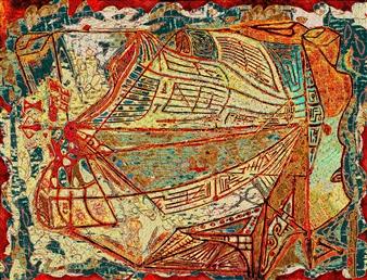 "Muse of Financial Mathematics Digital Print on Canvas 36"" x 48"""