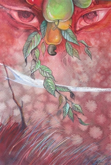 "Exhuberancia Watercolor on Paper 20"" x 13.5"""