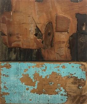 "Paesaggi in Allerta Meteo Emerald Mixed Media on Canvas 24"" x 24"""
