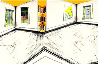 """Polygon with Yellow Archival Pigment Print 12.5"""" x 17"""""""