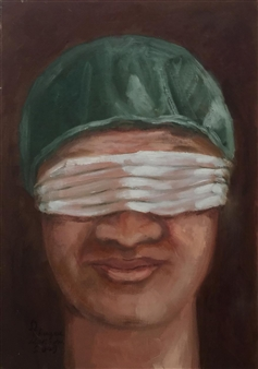 """The Famous Doctor Oil on Canvas 19"""" x 15"""""""