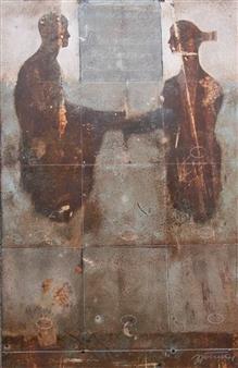 """Dialogo Fuoco Acrylic on Canvas 31"""" x 24"""""""