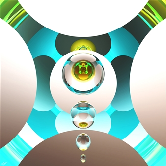 "Morvarid - UHD Inkjet Print on Acrylic Glass - Mounted to Aluminum Dibond 30"" x 30"""
