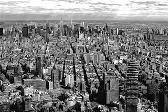 "NYC At A Glance Silver Gelatin Print 23.5"" x 39.5"""