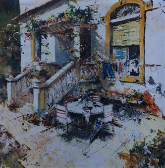 "Rincón de la Bonanova Acrylic on Canvas 39.5"" x 39.5"""