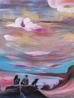 "Onslow Oil & Spray Paint on Canvas 48"" x 36"""