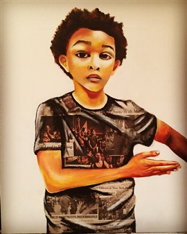 """Derrick Acrylic and Paper on Canvas 24"""" x 18"""""""