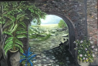 """Welcome to France Oil on Canvas 17"""" x 24"""""""