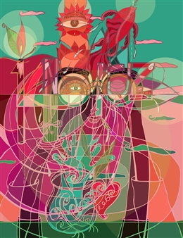 "Nowrouz 1400 3D Giclee Print on Paper 24"" x 18.5"""