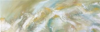 """Untitled Landcape  I Acrylic on Canvas 12"""" x 36"""""""