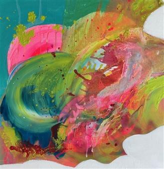 "Untitled 2 Acrylic on Canvas 31.5"" x 31.5"""