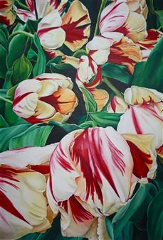 "Parrot Tulips Acrylic on Canvas 39.5"" x 31.5"""