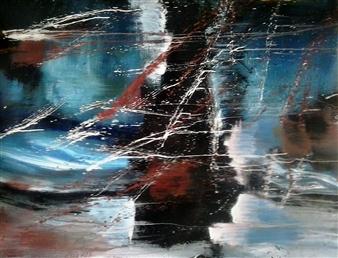"Sin Titulo X Acrylic on Canvas 43.5"" x 55"""
