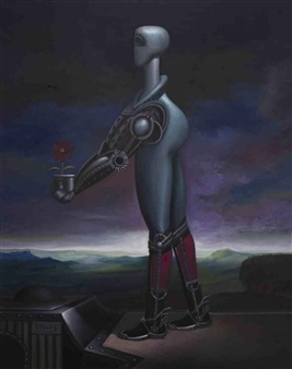 "Mutant Machine Oil on Canvas 54.5"" x 43.5"""