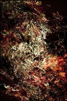 "Nebulosa 1190 Digital Print and Acrylic on Canvas 45"" x 30"""