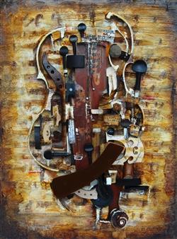 "Composition 1 Acrylic & Mixed Media on Canvas 24"" x 18"""